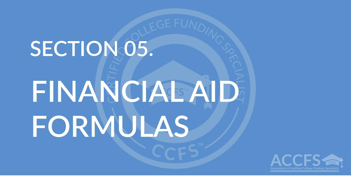 Financial Aid Formulas