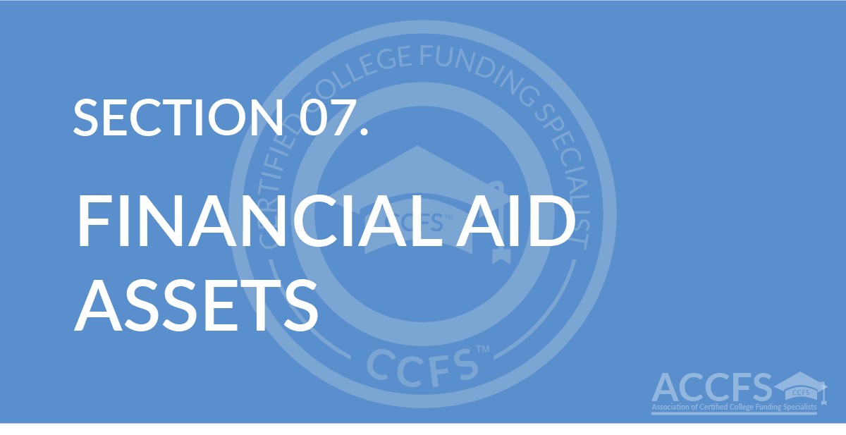 Financial Aid Assets