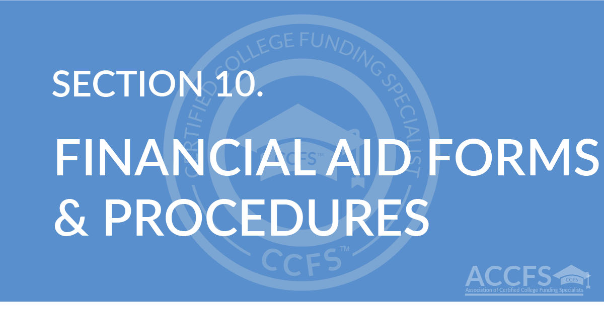 Financial Aid Forms and Procedures