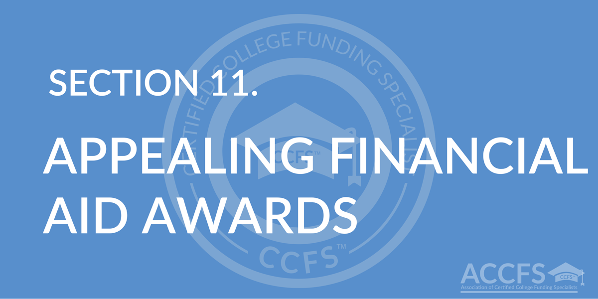 Appealing Financial Aid Awards