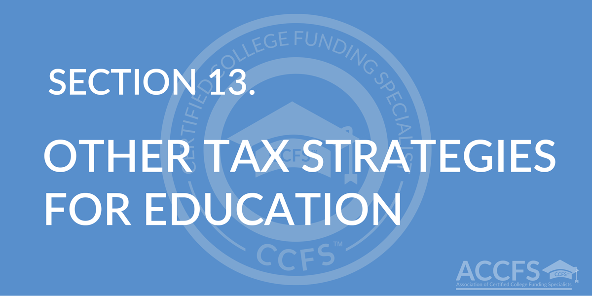 Other Tax Strategies for Education