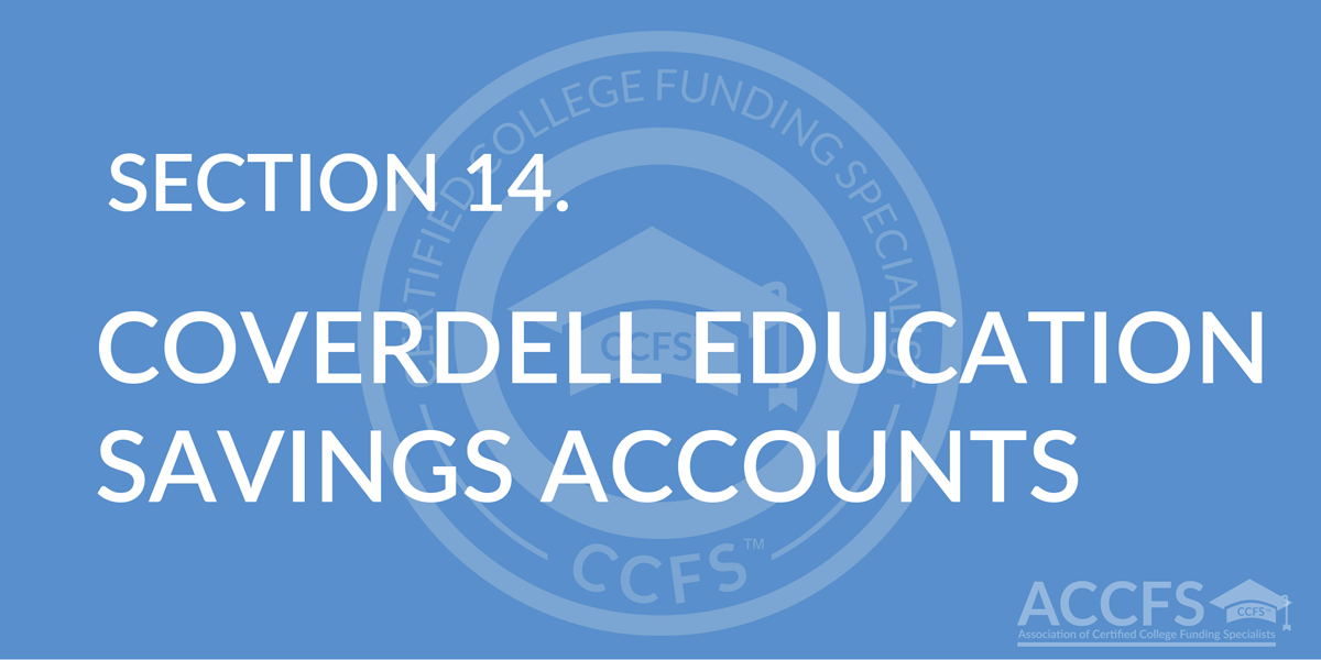 Coverdell Education Savings Accounts