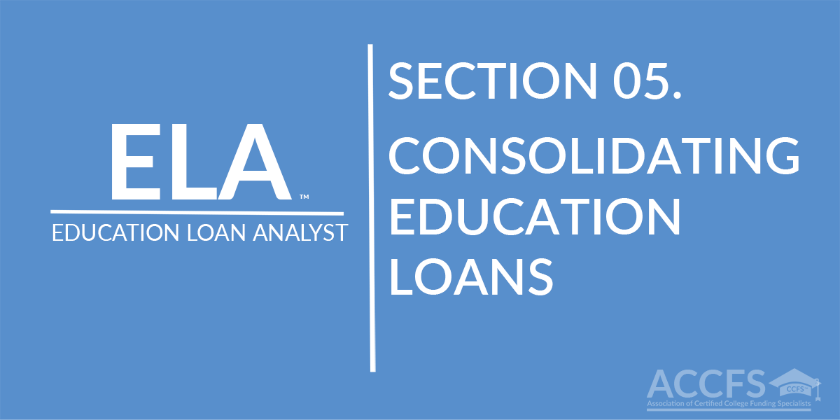 Consolidating Education Loans