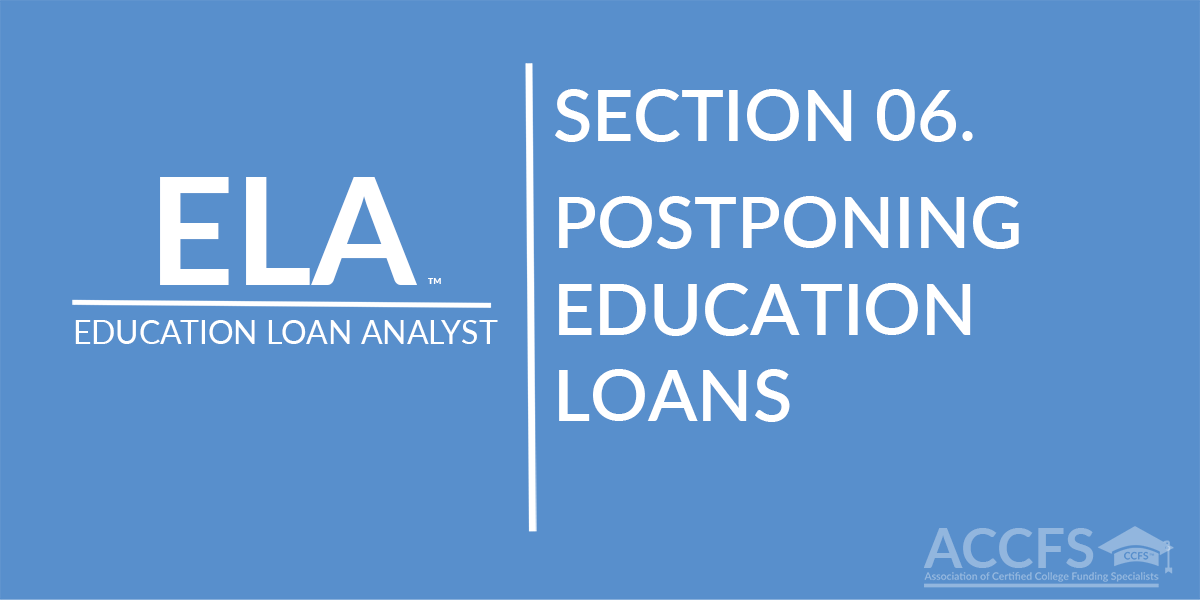 Postponing Education Loans
