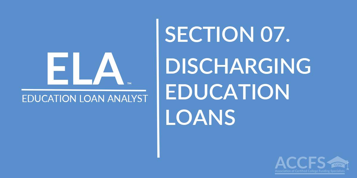 Discharging Education Loans