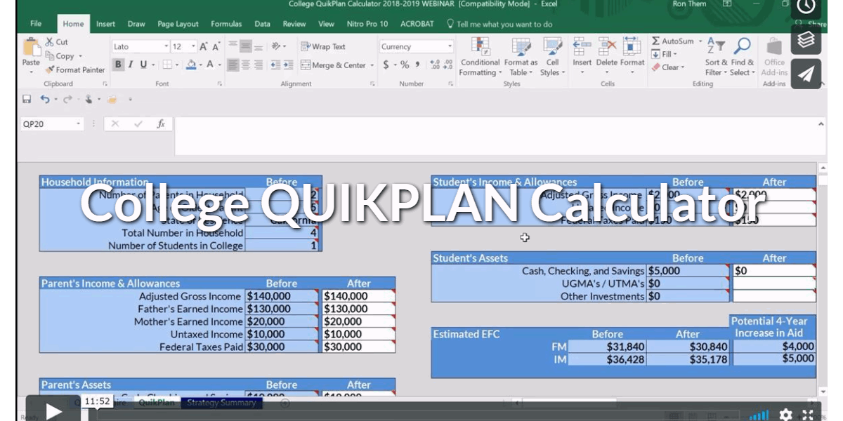 "Convert Prospects Into Clients Using The College Quikplan Calculator - A ""Here's What I Can Do For You"" Analysis Tool"
