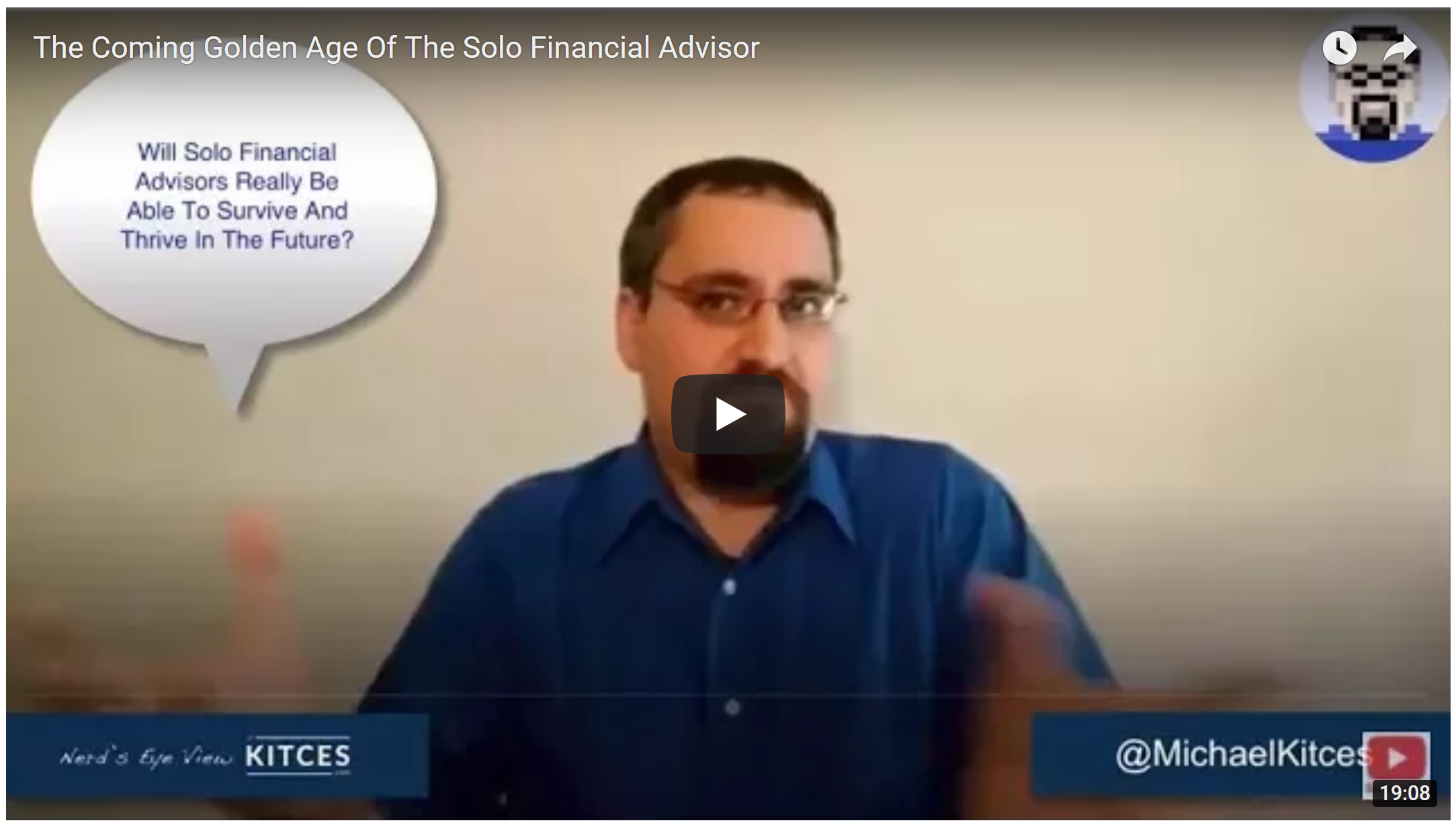 "MICHAEL KITCES' CASE FOR THE ""FOCUSED"" SOLO-ADVISOR"