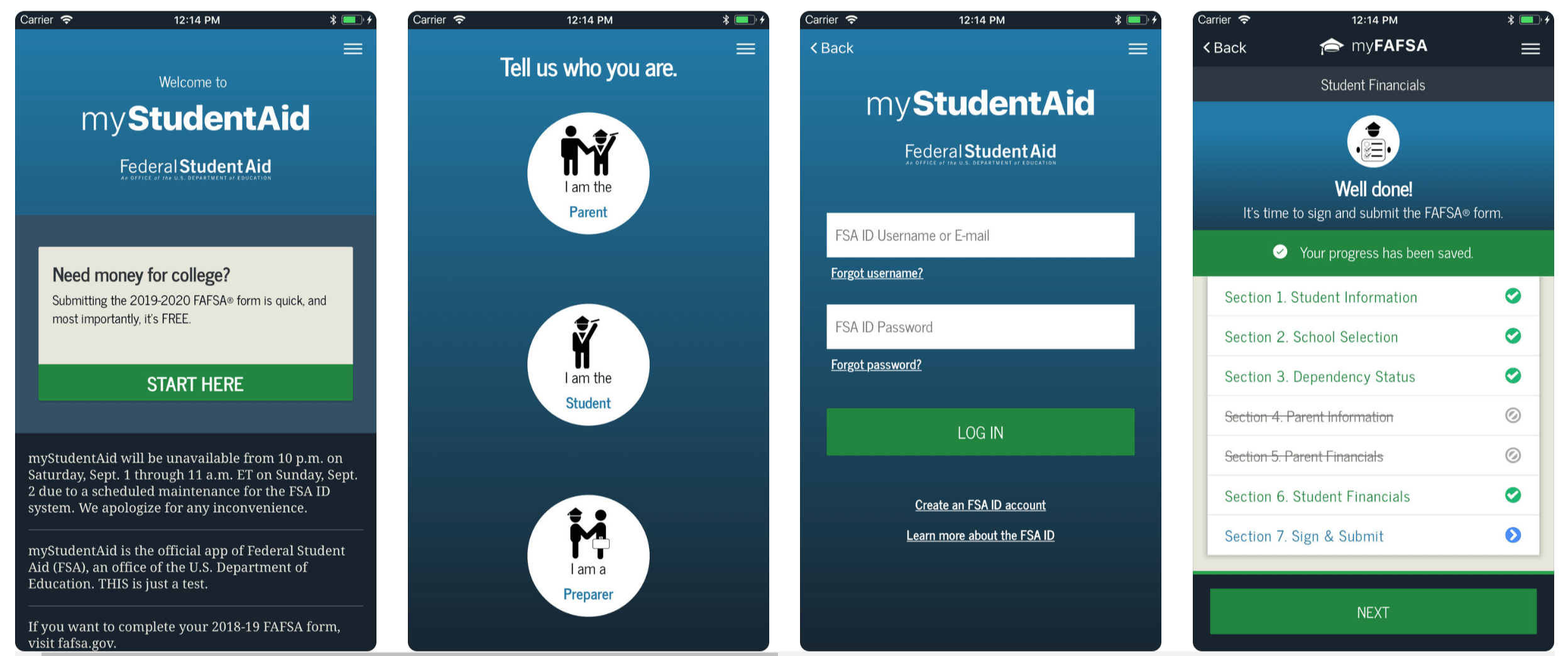 NEW FEDERAL STUDENT AID (FSA) MOBILE APP